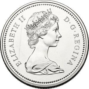 obverse: Canada.  Elizabeth II (1952 -). Dollar 1974