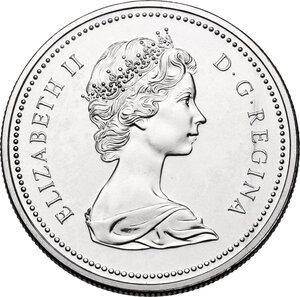 obverse: Canada.  Elizabeth II (1952 -). Dollar 1975
