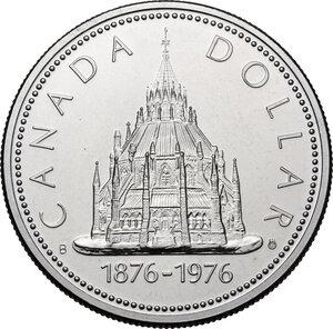 reverse: Canada.  Elizabeth II (1952 -). Dollar 1976