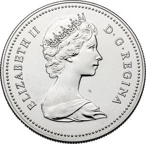 obverse: Canada.  Elizabeth II (1952- ). Dollar 1980