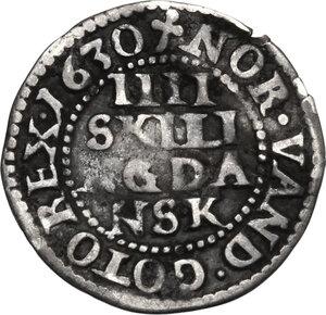 reverse: Denmark.  Christian IV (1588-1648). . 4 Skilling 1630