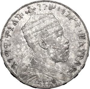 obverse: Ethiopia.  Menelik II (1889-1913). Birr 1889 A