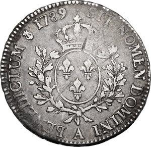 reverse: France.  Louis XVI (1774-1793).. Ecu 1789 A, Paris mint