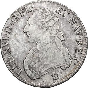 obverse: France.  Louis XVI (1774-1793).. Ecu 1790 I, Limoges mint