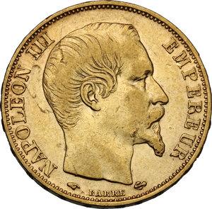 obverse: France.  Napoleon III (1852-1870). 20 Francs 1859 A, Paris mint