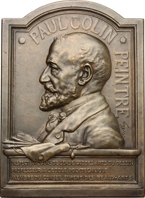 obverse: France.  Paul Alfred Colin (1838-1916).. Plaquette