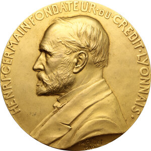 obverse: France.  Credit Lyonnais. Medal 1910 for Mitchell Alexander, for thirty years of service