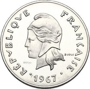 obverse: French Polynesia.  French overseas territories. . 50 Francs 1967 ESSAI