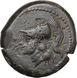 obverse: Samnium, Southern Latium and Northern Campania, Suessa Aurunca. AE Litra, c. 270-240 BC