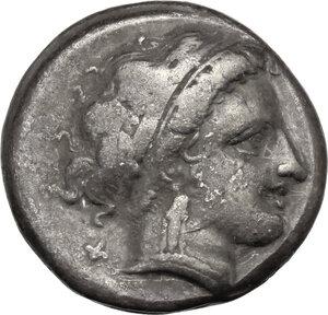 obverse: Central and Southern Campania, Neapolis. AR Nomos, c. 300-275 BC