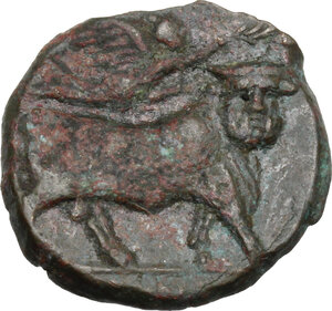 reverse: Central and Southern Campania, Neapolis. AE 18.5 mm c. 250-225