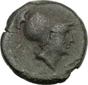 obverse: Eastern Italy, Larinum. AE Quincunx, c. 210-175 BC