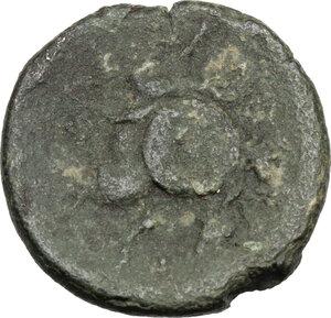 reverse: Eastern Italy, Larinum. AE Quincunx, c. 210-175 BC
