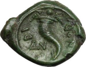 reverse: Eastern Italy, Larinum. AE Uncia, c. 210-175 BC