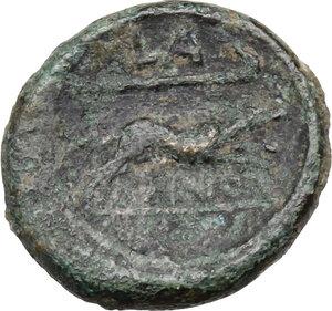 reverse: Eastern Italy, Larinum. AE Semuncia, c. 210-175 BC