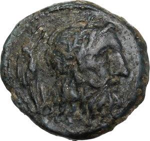 obverse: Southern Apulia, Brundisium. AE 12 mm. (Semiuncial standard Uncia?) 2nd century BC