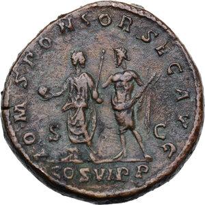 reverse: Commodus (177-192).. AE Sestertius, 191 AD