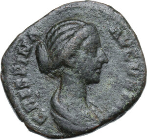 obverse: Crispina, wife of Commodus (died in 183 AD).. AE Dupondius or As. Struck under Commodus, 178-182 AD