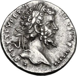 obverse: Septimius Severus (193-211) . AR Denarius, 197-198 AD