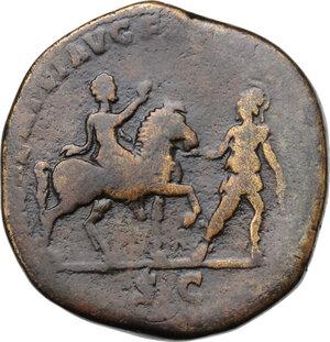 reverse: Septimius Severus (193-211) . AE Sestertius, 196 AD
