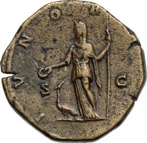 reverse: Julia Domna, wife of Septimius Severus (died 217 AD).. AE Sestertius