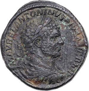 obverse: Caracalla (198-217). AE Sestertius, 213 AD