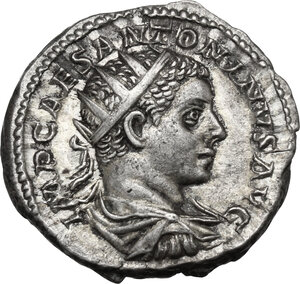 obverse: Elagabalus (218-222).. AR Antoninianus, Rome mint, 219 AD