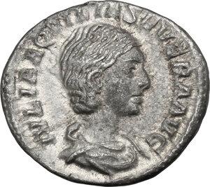 obverse: Aquilia Severa, second wife of Elagabalus (220-222). . AR Denarius