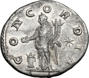 reverse: Aquilia Severa, second wife of Elagabalus (220-222). . AR Denarius