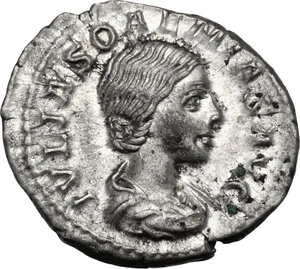 obverse: Julia Soemias, mother of Elagabalus (died 222 AD).. AR Denarius, Rome mint