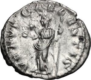 reverse: Julia Soemias, mother of Elagabalus (died 222 AD).. AR Denarius, Rome mint