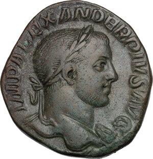 obverse: Severus Alexander (222-235 AD).. AE Sestertius, 231-235 AD