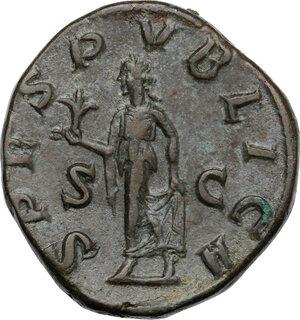 reverse: Severus Alexander (222-235 AD).. AE Sestertius, 231-235 AD