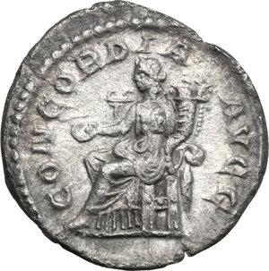 reverse: Orbiana, wife of Severus Alexander (225-227).. AR Denarius, Rome mint. Special marriage issue, 225 AD