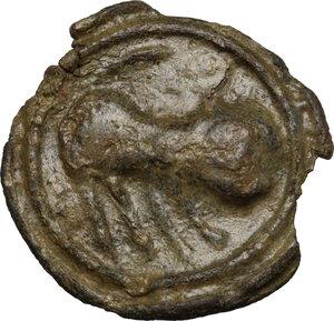 obverse: Cisalpine Gaul.  (?). Potin Tessera or token, 2nd-1st century BC
