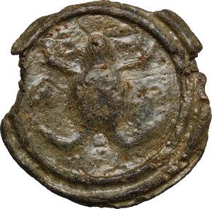 reverse: Cisalpine Gaul.  (?). Potin Tessera or token, 2nd-1st century BC