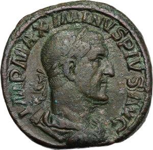 obverse: Maximinus I (225-238).. AE Sestertius, 236-237 AD