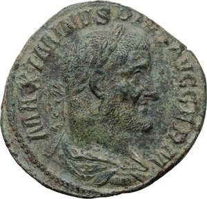 obverse: Maximinus I (235-238).. AE Sestertius, Rome mint. 236-238 AD