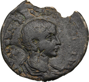 reverse: Maximinus I with Maximus Caesar (235-238). AE 32 mm, Ninica-Claudiopolis mint, Cilicia