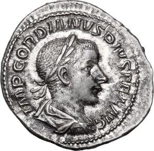 obverse: Gordian III (238-244 ).. AR Denarius, 240 AD
