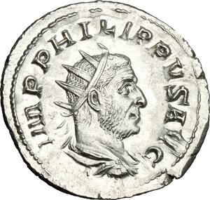 obverse: Philip I (244-249).. AR Antoninianus, Rome mint