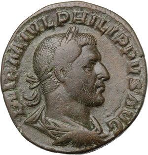 obverse: Philip I (244-249).. AE Sestertius, 244 AD