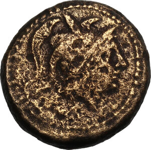 obverse: Southern Apulia, Orra. AE Quincunx, c. 210-150 BC