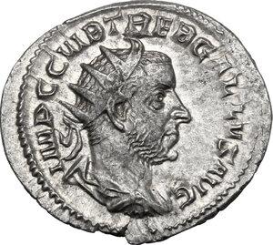 obverse: Trebonianus Gallus (251-253).. AR Antoninianus, 251-253 AD. Mediolanum mint