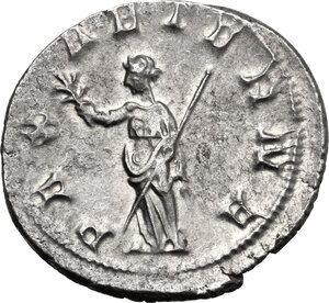 reverse: Trebonianus Gallus (251-253).. AR Antoninianus, 251-253 AD. Mediolanum mint