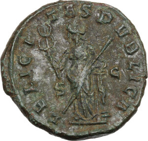 reverse: Volusian (251-253).. AE As, Rome mint