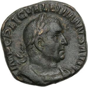 obverse: Valerian I (253-260).. AE Sestertius, Rome mint