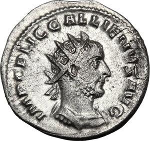 obverse: Gallienus (253-268).. AR Antoninianus, Rome mint