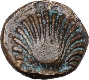 obverse: Southern Apulia, Sturnium. AE 13.5 mm,  250-210 BC