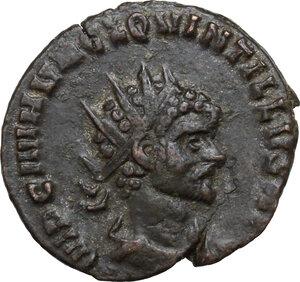 obverse: Quintillus (270 AD).. BI Antoninianus, Rome mint